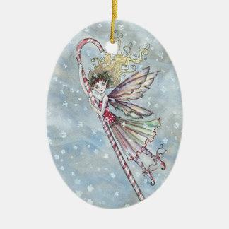 Candycane Fairy Christmas Ornament