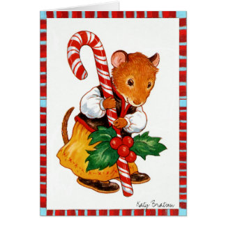 Candycane Mouse Card