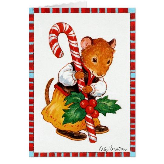 Candycane Mouse Card