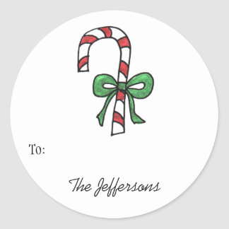 Candycane Round Gift Tags