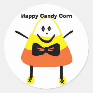 CANDYCORN copy, Happy Candy Corn Round Sticker