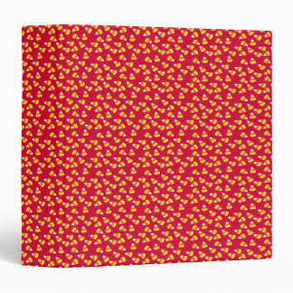 Candycorn on Red Background 3 Ring Binder