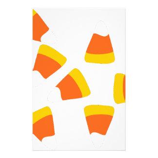 candycorn stationery design