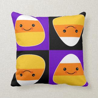 Candycorn Throw Pillow