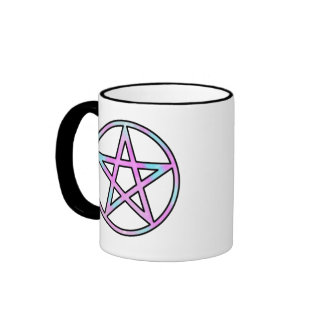 Candygram Pastel Pentagram Ringer Coffee Mug