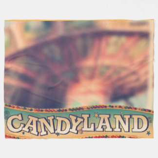Candyland Amusement Blankie Fleece Blanket