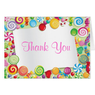 Candyland candy Theme Sweet 16 Thank You Card