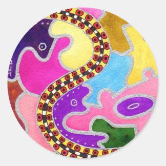 Candyland Freeway Round Sticker