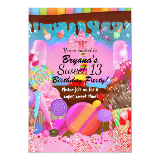 Candyland Party Fantasy Candy Cupcakes Flyer Card