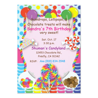 Candyland Sweets Invitation