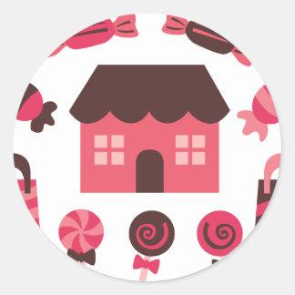 CandylandMix3 Classic Round Sticker