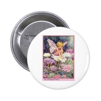 Candytuft Fairy 2 Inch Round Button