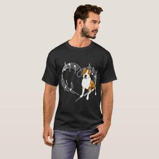 Cane Corso Dog Love Rhythm Heartbeats Tshirt