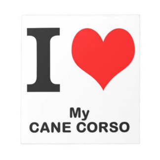 cane corso love notepad