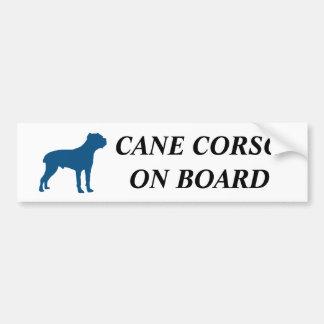 Cane Corso on board! Bumper Sticker