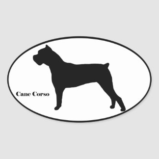 Cane Corso SIlhouette Oval Sticker