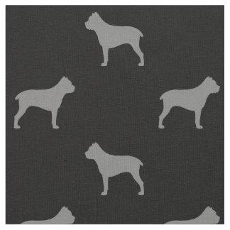 Cane Corso Silhouettes Pattern Fabric