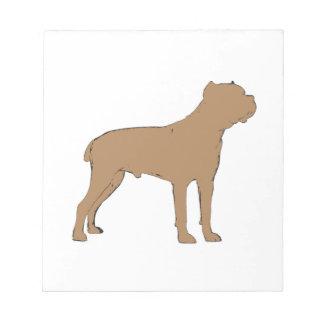 cane corso silo color notepad