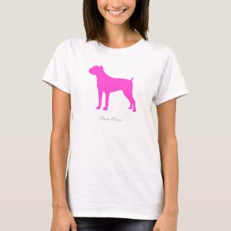 Cane Corso T-shirt (pink silhouette)