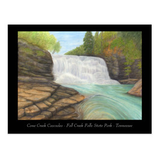 Cane Creek Cascades - Appalachian Art Card