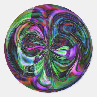 Cane Magic Mandala - Abstract Fractal Sticker