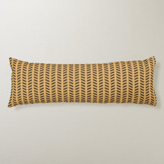 Cane wicker parquet body pillow