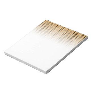 Cane wicker parquet notepad