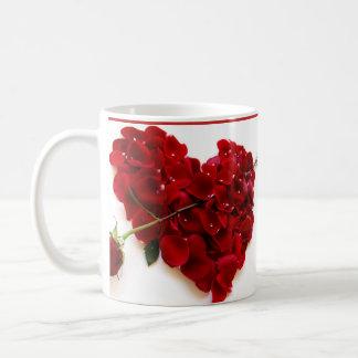 caneca vermelha e branco coffee mug