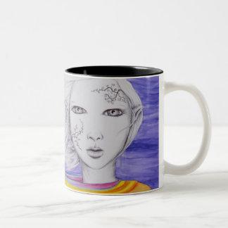 "Caneda ""Fairy of the Wind "" Two-Tone Coffee Mug"