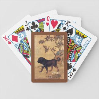 Cangni 苍猊 ~ Tibetan Mastiff ~ Giuseppe Castiglione Bicycle Playing Cards