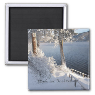Canim Lake, British Columbia in Winter Magnet