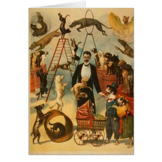 Canine Circus - Greeting Card #1
