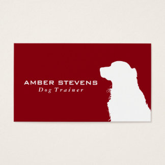 Canine close-up | Dog Training (red) Business Card