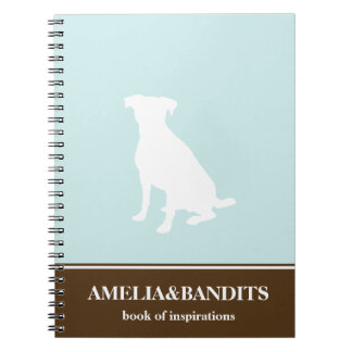 Canine dog pet silhouette blue inspiration journal note books