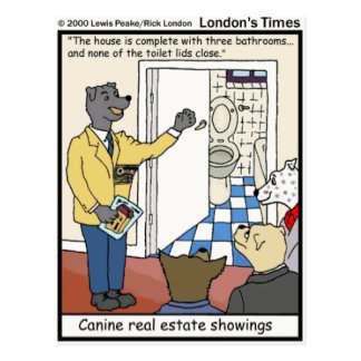Canine Real Estate Sales Funny Gifts & Tees Postcard
