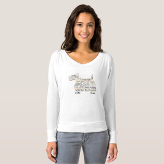 Canine Themed Scotty Dog Word Cloud T-shirt