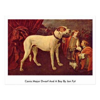 Canis Major Dwarf And A Boy By Jan Fyt Postcard