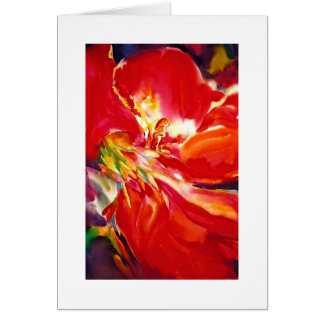 """Canna Close Up"" Greeting Card"