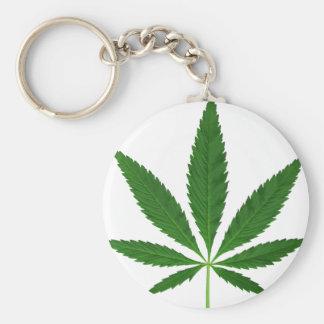 CANNABIS REX (marijuana leaf design) ~ Basic Round Button Keychain