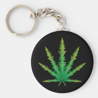 cannabis triangles basic round button keychain
