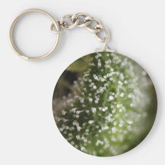 Cannabis trichomes 01 basic round button keychain