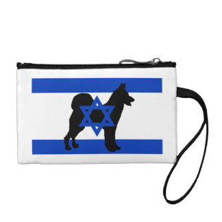 cannan dog silhouette flag_of_israel coin purse