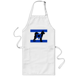 cannan dog silhouette flag_of_israel long apron