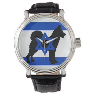 cannan dog silhouette flag_of_israel watch