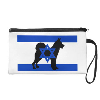 cannan dog silhouette flag_of_israel wristlet