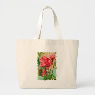 Cannas rouges PNG Large Tote Bag