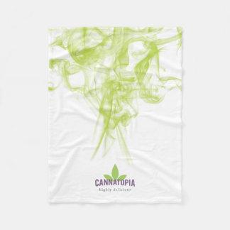 Cannatopia Green Smoke Fleece Blanket