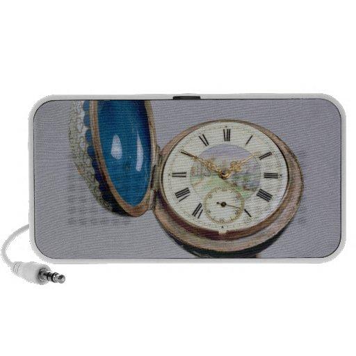 Canne d'instrument de montre (émail de cloisonne) système de haut-parleurs