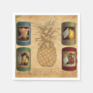 Canned fruit paper napkin