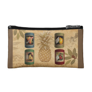 Canned fruit pineapple makeup bag